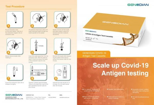 Covid-19 Antigen Test Cassette von GENEDIAN
