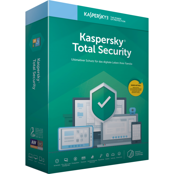 Kaspersky Total Security, Jahreslizenz, ESD