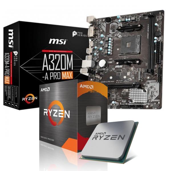 Aufrüst-Kit: MSI A320M-A Pro Max - AMD Ryzen 3 3200G 4x 3.6 GHz - 0 GB DDR4 - AMD Vega 11