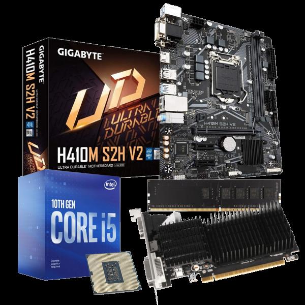 Aufrüst-Kit: MSI H410M-A Pro - Intel Core i5-10400F, 6x 2.90GHz - 8 GB DDR4 - NVIDIA GT 710