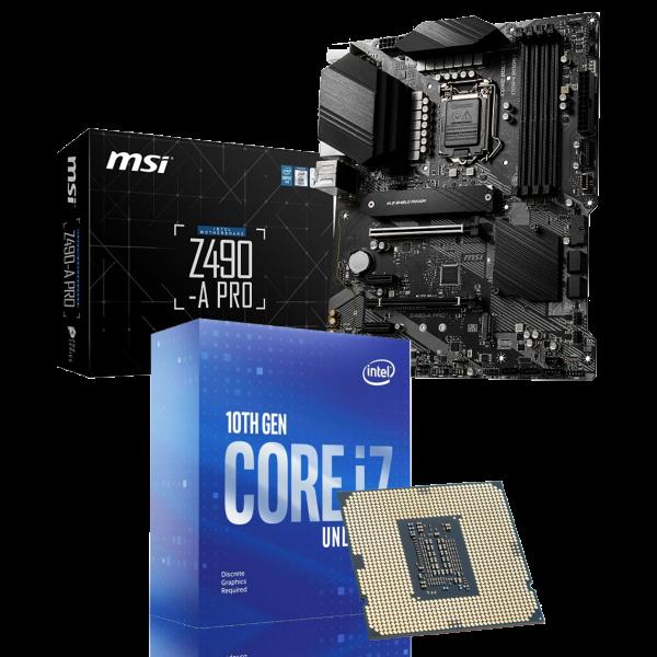 Aufrüst-Kit: MSI Z490-A PRO - Intel Core i7-10700KF, 8x 3.80Ghz