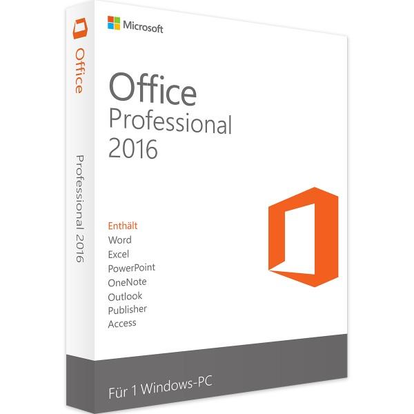 Office 2016 Home & Business, Vollversion, ESD, 32- und 64-bit Ausführung
