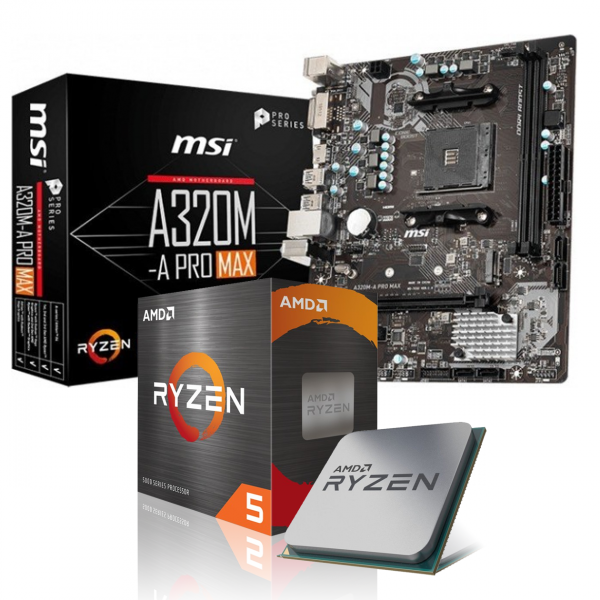 Aufrüst-Kit: MSI A320M-A Pro Max - AMD Ryzen 5 3600 6x 3.6 GHz