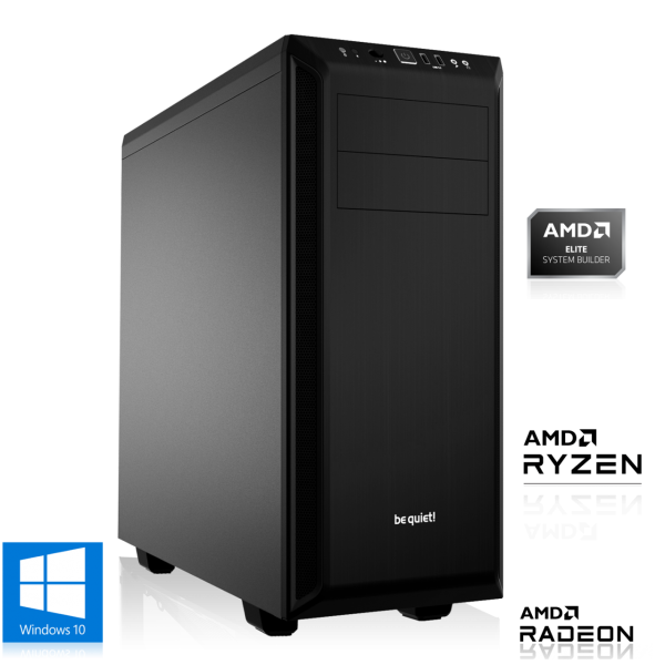 OFFICE PC AMD Ryzen 3 4300GE 4x3.5GHz | 8GB DDR4 | Radeon Graphics | 240 GB SSD + 1TB HDD | Win 10 H